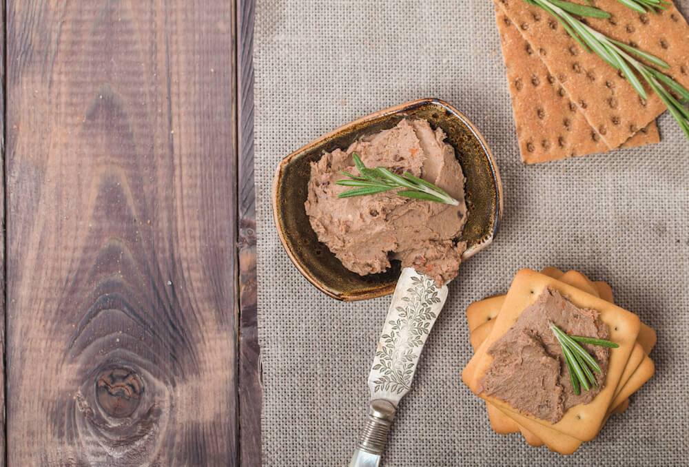 Homemade meat snack  liver pate
