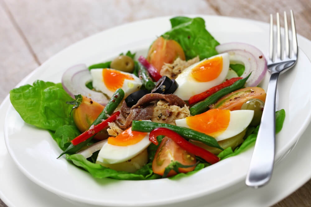 ketogenic salad nicoise